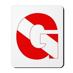 http://i3.cpcache.com/product/189279786/scuba_flag_letter_g_mousepad.jpg?height=240&width=240