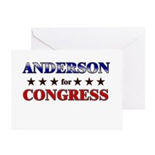 ANDERSON for congress Greeting Card
