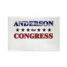 ANDERSON for congress Rectangle Magnet