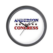ANDERSON for congress Wall Clock