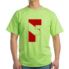 http://i3.cpcache.com/product/189280548/scuba_flag_letter_f_tshirt.jpg?color=Green&height=240&width=240