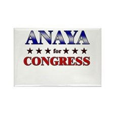 ANAYA for congress Rectangle Magnet