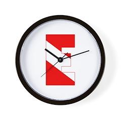 http://i3.cpcache.com/product/189281253/scuba_flag_letter_e_wall_clock.jpg?height=240&width=240