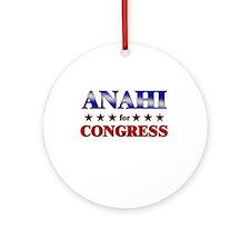 ANAHI for congress Ornament (Round)