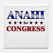 ANAHI for congress Tile Coaster