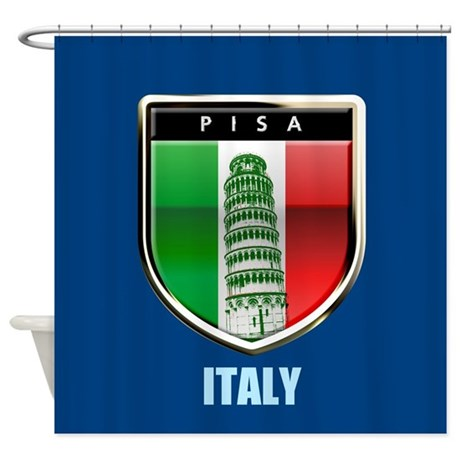 the tower of pisa customized shower curtain