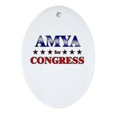 AMYA for congress Oval Ornament