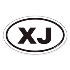 XJ Euro Oval Stickers