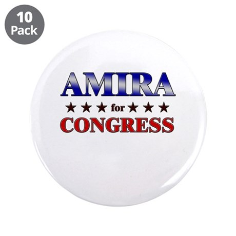 "AMIRA for congress 3.5"" Button (10 pack)"