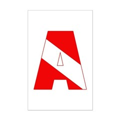 http://i3.cpcache.com/product/189285216/scuba_flag_letter_a_posters.jpg?height=240&width=240