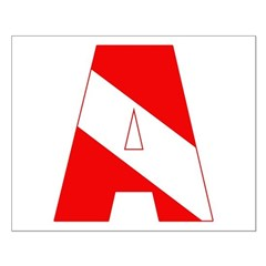 http://i3.cpcache.com/product/189285217/scuba_flag_letter_a_posters.jpg?height=240&width=240