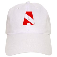 http://i3.cpcache.com/product/189285233/scuba_flag_letter_a_baseball_cap.jpg?color=White&height=240&width=240