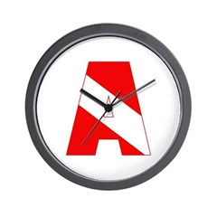 http://i3.cpcache.com/product/189285234/scuba_flag_letter_a_wall_clock.jpg?height=240&width=240