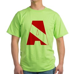http://i3.cpcache.com/product/189285257/scuba_flag_letter_a_tshirt.jpg?color=Green&height=240&width=240