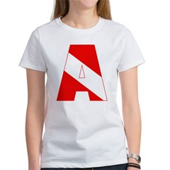 http://i3.cpcache.com/product/189285294/scuba_flag_letter_a_womens_tshirt.jpg?color=White&height=240&width=240
