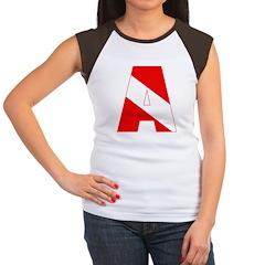 http://i3.cpcache.com/product/189285296/scuba_flag_letter_a_womens_cap_sleeve_tshirt.jpg?color=BlackWhite&height=240&width=240