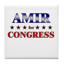 AMIR for congress Tile Coaster