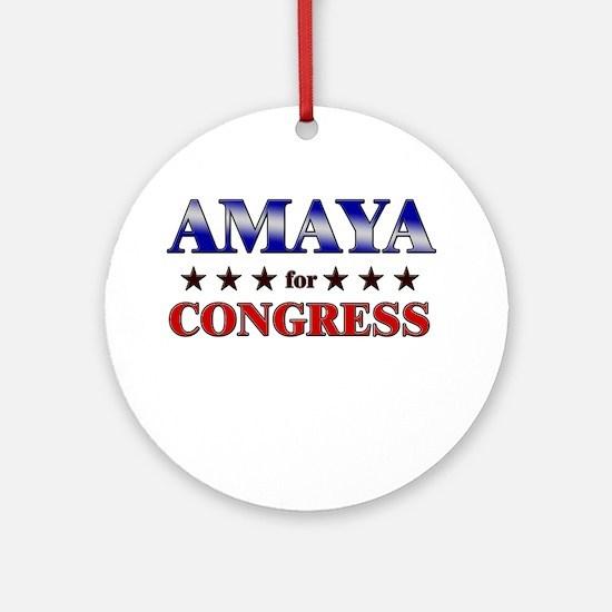 AMAYA for congress Ornament (Round)