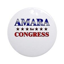 AMARA for congress Ornament (Round)