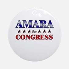 AMARA for congress Ornament (Round)