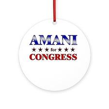 AMANI for congress Ornament (Round)