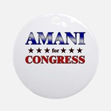 AMANI for congress Ornament (Round)