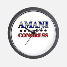AMANI for congress Wall Clock