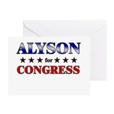 ALYSON for congress Greeting Card