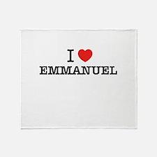 I Love EMMANUEL Throw Blanket