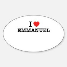 I Love EMMANUEL Decal