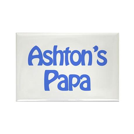 Ashton's Papa Rectangle Magnet