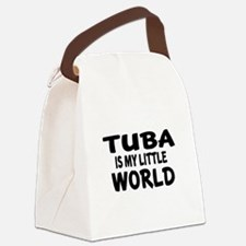 Tuba Is My Little World Canvas Lunch Bag
