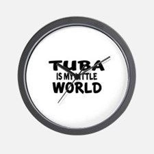 Tuba Is My Little World Wall Clock