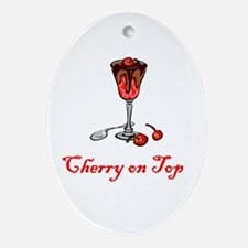 Cherry on Top Oval Ornament
