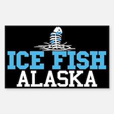 Ice Fish Alaska Rectangle Decal