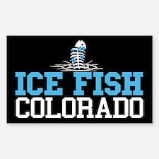 Ice Fish Colorado Rectangle Decal