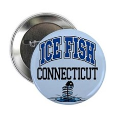 """Ice Fish Connecticut 2.25"""" Button"""
