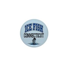 Ice Fish Connecticut Mini Button
