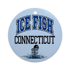 Ice Fish Connecticut Ornament (Round)