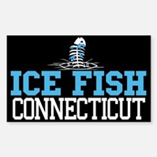 Ice Fish Connecticut Rectangle Decal