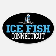 Ice Fish Connecticut Oval Decal