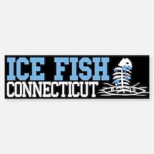 Ice Fish Connecticut Bumper Bumper Bumper Sticker