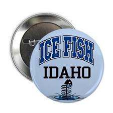 "Ice Fish Idaho 2.25"" Button"