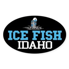 Ice Fish Idaho Oval Decal