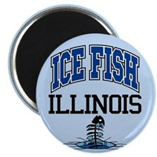 Ice Fish Illinois Magnet