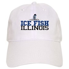 Ice Fish Illinois Baseball Cap