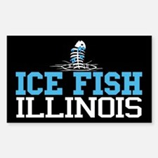 Ice Fish Illinois Rectangle Decal