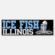 Ice Fish Illinois Bumper Bumper Bumper Sticker