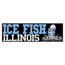 Ice Fish Illinois Bumper Bumper Sticker