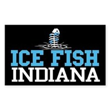Ice Fish Indiana Rectangle Decal